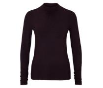 Viskose-Shirt mit Stehkragen rot