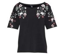 T-Shirt 'puff' mischfarben / schwarz