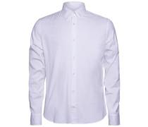 Freizeithemd Daniel Button-Down-Stretch-Oxford weiß