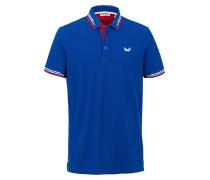 Poloshirt royalblau / rot / weiß