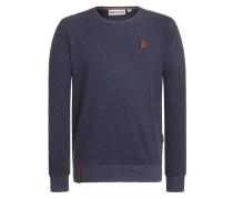 Sweatshirt 'Ich hab Augenbart II' blau
