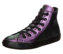 Chuck Taylor All Star Iridescent High Sneaker Kinder lila