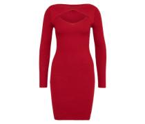 Kleid 'Cut Out' burgunder