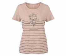 T-Shirt »Melon« basaltgrau / rosa