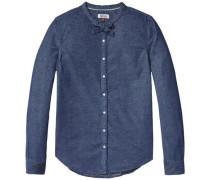 Bluse 'thdw BOW Blouse L/S 27' blue denim