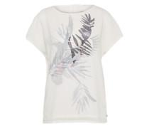 T-shirt Bluse grau / offwhite