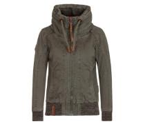Female Jacket 'Wonderwaffel nein nein nein II' oliv