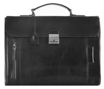 Passpartout Messenger Umhängetasche Leder 40 cm schwarz