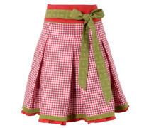Trachtenrock mit seitlichem Zipp oliv / rot