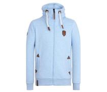 Sweatshirtjacke 'Ivic VI' hellblau
