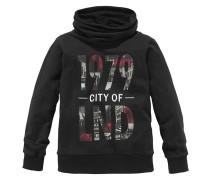 Sweatshirt mit Stehkragen für Jungen schwarz