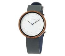 Uhr 'Heinrich' blau / braun