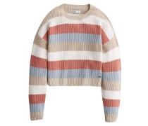 Pullover blau / braun / rot / weiß