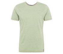 T-Shirt 'Daniel' grün / hellgrün