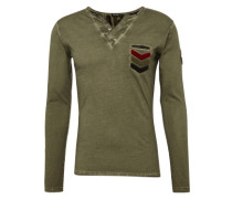 Langarmshirt 'mls GUN button' khaki