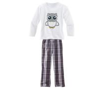 Pyjama grau / weiß