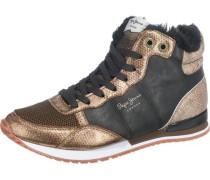 'Gable Fur' Sneakers bronze / gold / schwarz