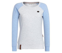 Sweatshirt hellblau / grau
