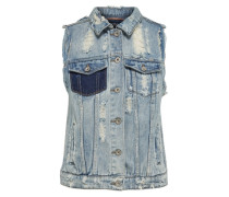Raue Jeans-Weste blau