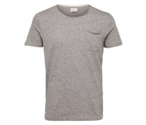 Rundhalsausschnitt-T-Shirt graumeliert
