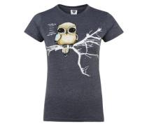 T-Shirt 'Fly Right' blau
