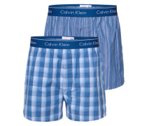 Boxershorts im 2er Pack blau / weiß