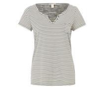 Shirt mit Streifen-Dessin grau