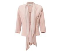 Bodyform-Jerseyblazer mit Chiffonbesatz rosa