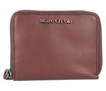 'Zip Wallet M' Geldbörse Leder 12 cm braun