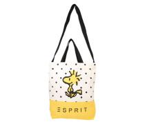 Shopper 'Snoopy' aus Baumwolle gelb / schwarz / weiß