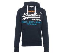 Sweatshirt 'sweat Shirt Store TRI Hood' navy / schwarz / weiß