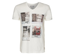 Shirt 'org.cotton photoprint tee' weiß
