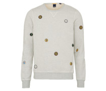 Sweatshirt 'badge Art' hellgrau
