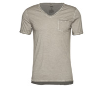 T-Shirt im Garment Dyed - Ciravi grau