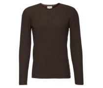 Pullover 'two collered pullover' dunkelgrau