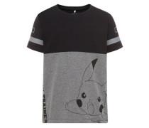 'Pokémon' Oberteil grau / schwarz