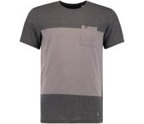 T-Shirt 'LM Modern' taupe / dunkelgrau