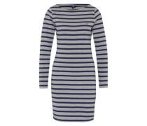 Streifen-Kleid 'Breton' grau