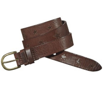 Hilfiger Denim Gürtel »Embossed leather belt 3« dunkelbraun