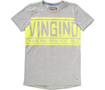 Baby T-Shirt für Jungen neongelb / grau