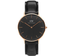 Quarzuhr'Classic Black Sheffield Dw00100139' schwarz