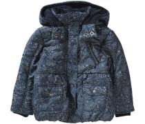 Winterjacke für Mädchen dunkelblau / weiß