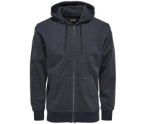 Sweat-Kapuzenjacke blau