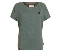 T-Shirt 'I am Trouble' blau
