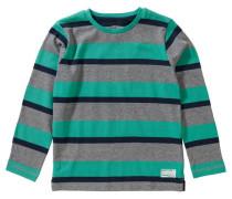 Sweatshirt graumeliert / jade