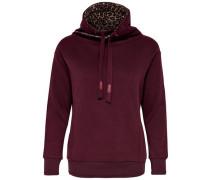 Detailreiches Sweatshirt weinrot