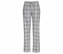 Karierte Pyjamahose mit Zierknopfleiste grau
