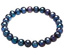 Armband mit Süßwasser-Zuchtperlen blau / dunkelblau