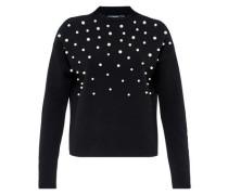 Pullover mit Perlen schwarz