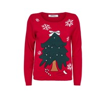 ONLY Strickpullover Christmas rot